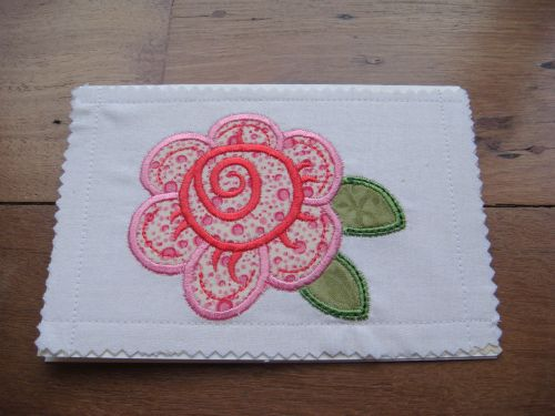machine embroidered cards