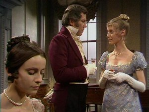 Jane Fairfax (in the foreground) and Emma and Mr Knightley