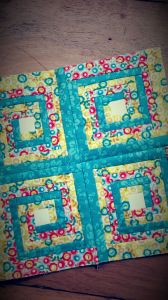 Log Cabin block finished