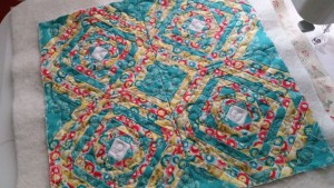Another block is quilted