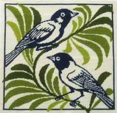 Resting Birds Cushion - from Fine Cell Works